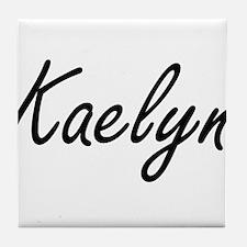 Kaelyn artistic Name Design Tile Coaster