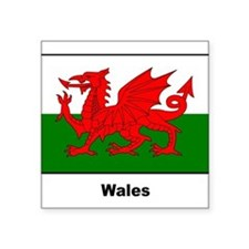 "Cute Welsh culture Square Sticker 3"" x 3"""