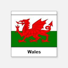 """Cute Wales culture Square Sticker 3"""" x 3"""""""