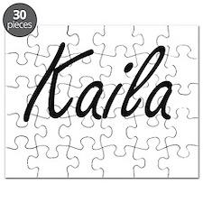 Kaila artistic Name Design Puzzle