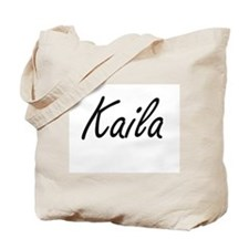 Kaila artistic Name Design Tote Bag