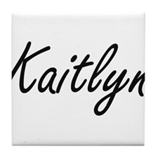 Kaitlyn artistic Name Design Tile Coaster