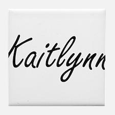 Kaitlynn artistic Name Design Tile Coaster