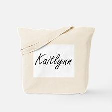 Kaitlynn artistic Name Design Tote Bag