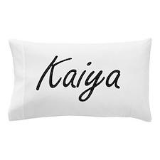Kaiya artistic Name Design Pillow Case