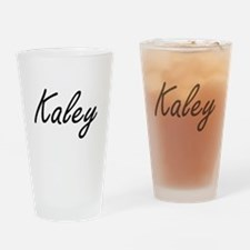 Kaley artistic Name Design Drinking Glass