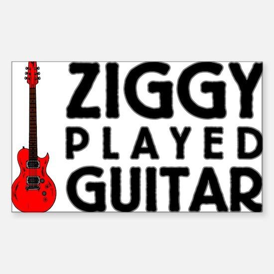 Ziggy Played Guitar Decal