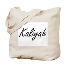 Kaliyah artistic Name Design Tote Bag
