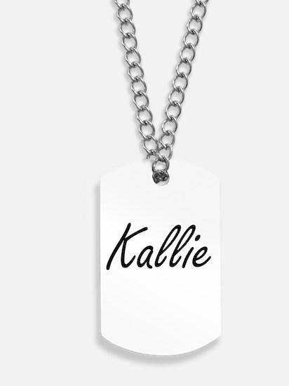 Kallie artistic Name Design Dog Tags