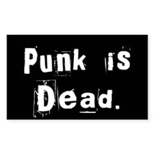 Punk is Dead Rectangle Decal