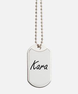 Kara artistic Name Design Dog Tags