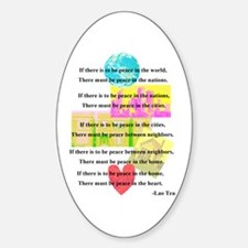 Peace Quote Oval Decal
