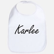 Karlee artistic Name Design Bib