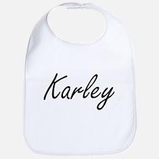 Karley artistic Name Design Bib