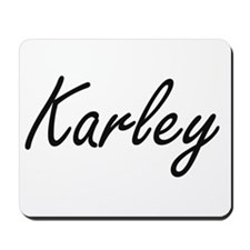 Karley artistic Name Design Mousepad