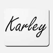 Karley artistic Name Design Mousepad