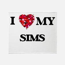 I Love MY Sims Throw Blanket