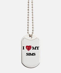 I Love MY Sims Dog Tags