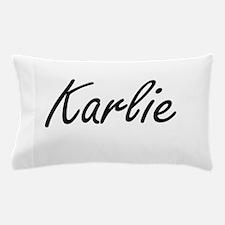 Karlie artistic Name Design Pillow Case