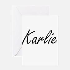 Karlie artistic Name Design Greeting Cards