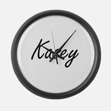 Kasey artistic Name Design Large Wall Clock