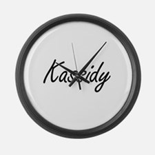 Kassidy artistic Name Design Large Wall Clock