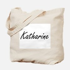 Katharine artistic Name Design Tote Bag