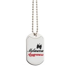 Melanoma Awareness Butterfly Dog Tags
