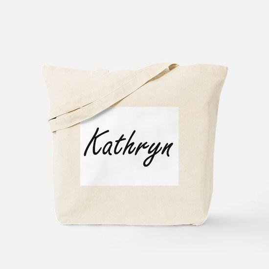 Kathryn artistic Name Design Tote Bag