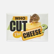 Cute Who cut cheese Rectangle Magnet