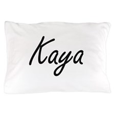 Kaya artistic Name Design Pillow Case
