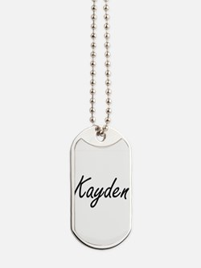 Kayden artistic Name Design Dog Tags