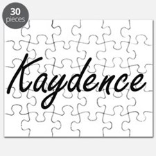 Kaydence artistic Name Design Puzzle