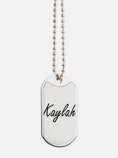 Kaylah artistic Name Design Dog Tags