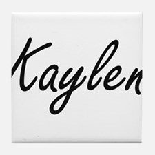 Kaylen artistic Name Design Tile Coaster