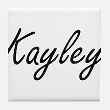 Kayley artistic Name Design Tile Coaster