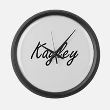 Kayley artistic Name Design Large Wall Clock