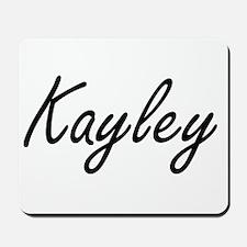 Kayley artistic Name Design Mousepad