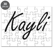 Kayli artistic Name Design Puzzle