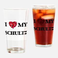 I Love MY Schultz Drinking Glass