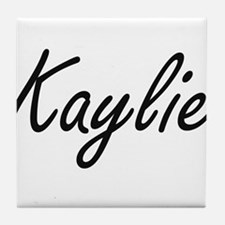 Kaylie artistic Name Design Tile Coaster