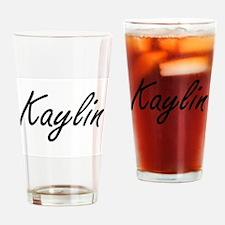 Kaylin artistic Name Design Drinking Glass