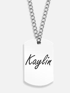 Kaylin artistic Name Design Dog Tags