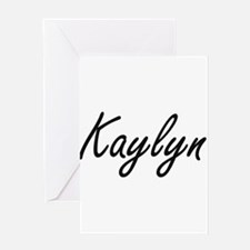 Kaylyn artistic Name Design Greeting Cards