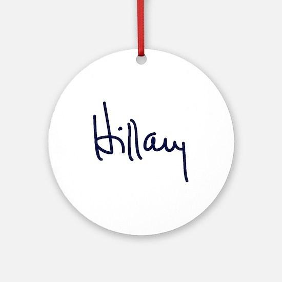 Hillary Signature Ornament (Round)
