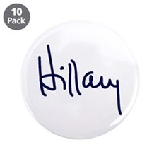"Hillary Signature 3.5"" Button (10 pack)"
