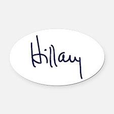 Hillary Signature Oval Car Magnet
