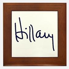 Hillary Signature Framed Tile