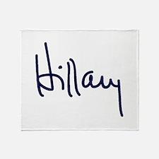 Hillary Signature Throw Blanket