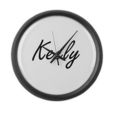Keely artistic Name Design Large Wall Clock
